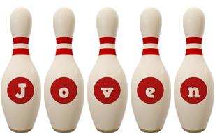 Joven bowling-pin logo