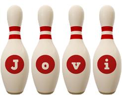 Jovi bowling-pin logo