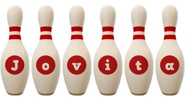 Jovita bowling-pin logo