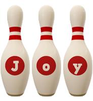Joy bowling-pin logo