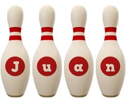 Juan bowling-pin logo