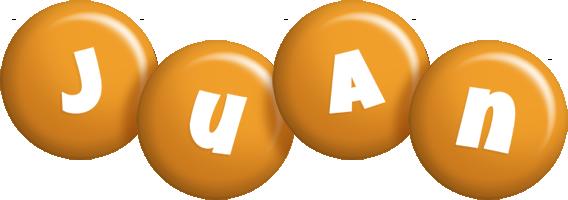 Juan candy-orange logo
