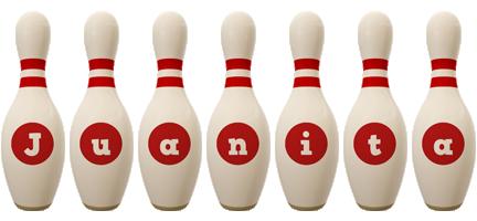 Juanita bowling-pin logo