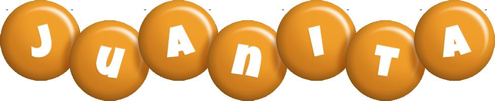 Juanita candy-orange logo