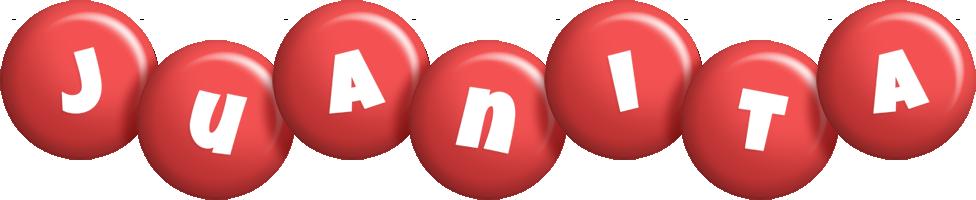 Juanita candy-red logo