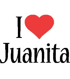 Juanita i-love logo