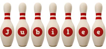 Jubilee bowling-pin logo