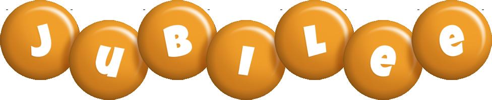 Jubilee candy-orange logo