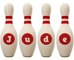 Jude bowling-pin logo