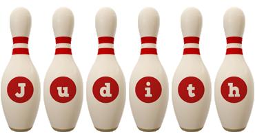 Judith bowling-pin logo