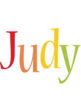 Judy birthday logo