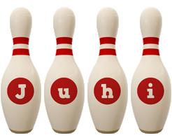 Juhi bowling-pin logo