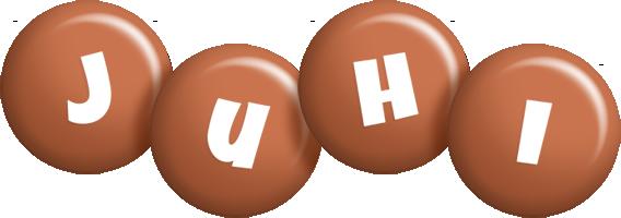Juhi candy-brown logo
