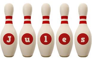 Jules bowling-pin logo