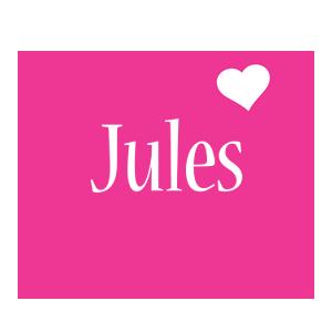 Jules love-heart logo