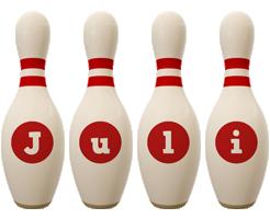 Juli bowling-pin logo