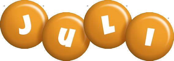 Juli candy-orange logo