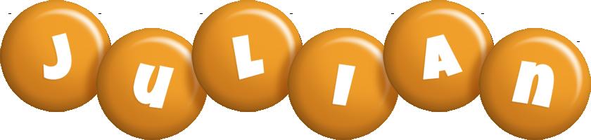 Julian candy-orange logo