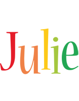 Julie birthday logo