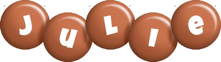 Julie candy-brown logo