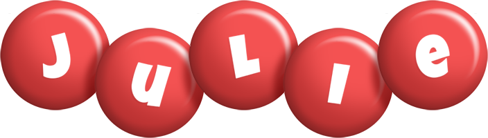 Julie candy-red logo