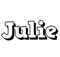 Julie snowing logo