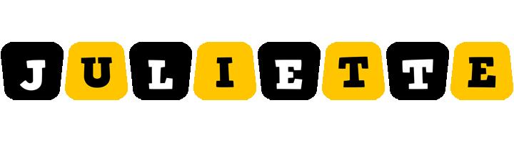Juliette boots logo