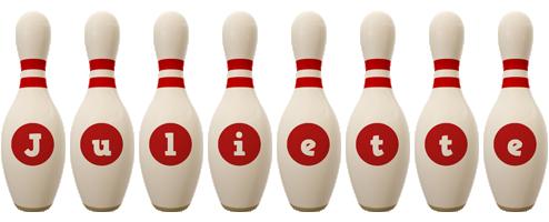 Juliette bowling-pin logo