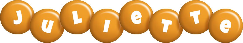 Juliette candy-orange logo