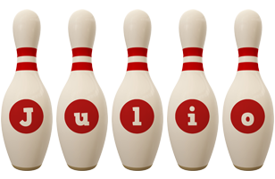Julio bowling-pin logo