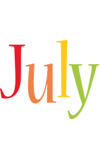 July birthday logo