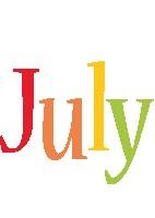July birthday logo