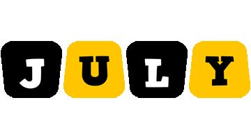 July boots logo