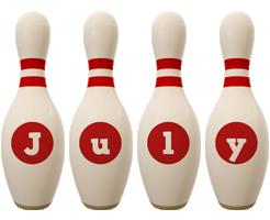 July bowling-pin logo