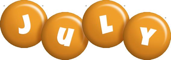 July candy-orange logo