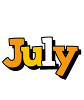 July cartoon logo