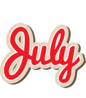 July chocolate logo