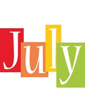 July colors logo