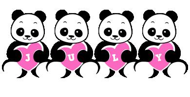 July love-panda logo