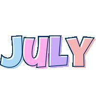 July pastel logo