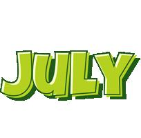 July summer logo