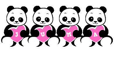 Juma love-panda logo