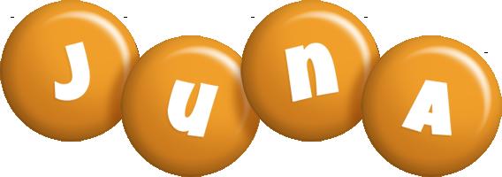 Juna candy-orange logo