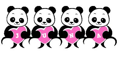 Juna love-panda logo