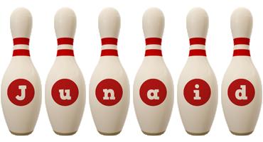 Junaid bowling-pin logo