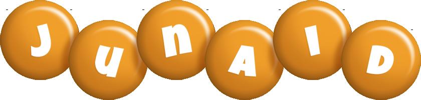 Junaid candy-orange logo