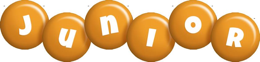 Junior candy-orange logo