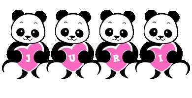 Juri love-panda logo