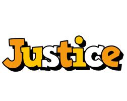 Justice cartoon logo