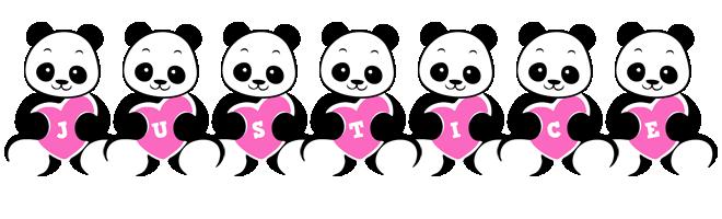Justice love-panda logo